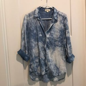 Cloth & Stone Bleached Chambray Button Up